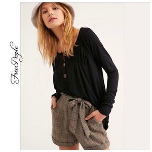 NWT Free People Must Have Henley Top